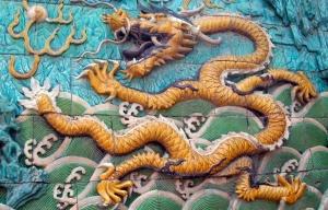 Water Dragon tiles